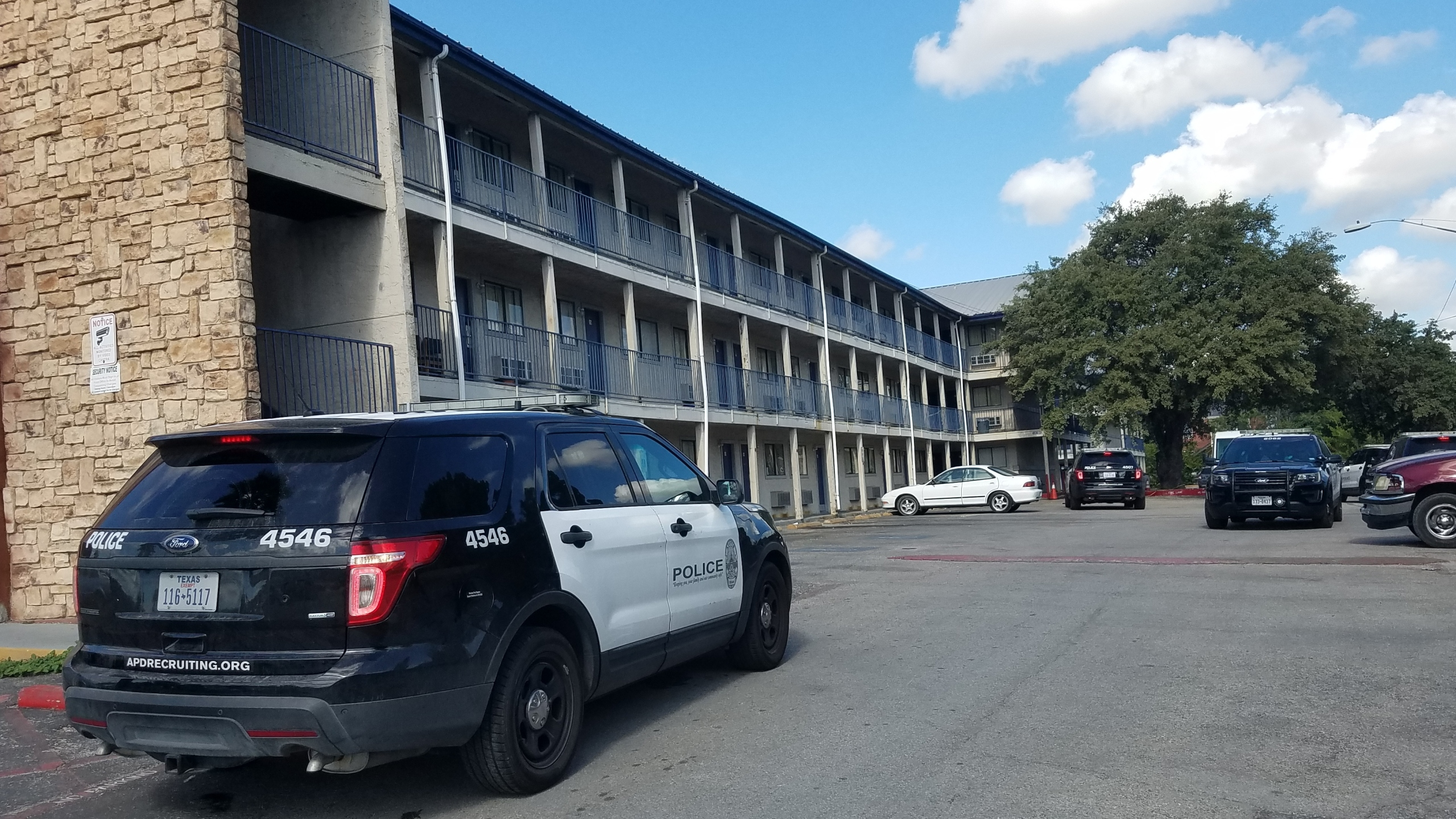 Woman shot at Austin Suites