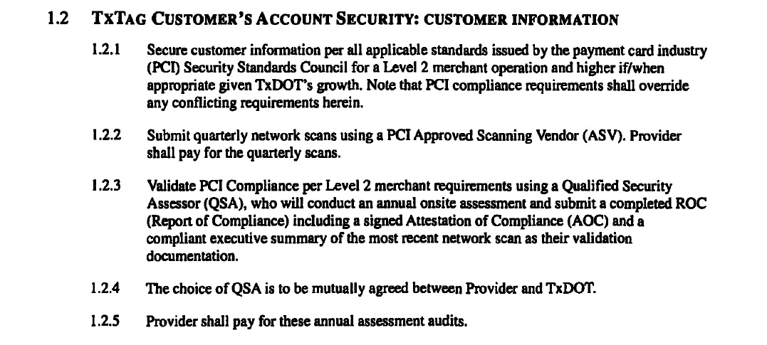 TxTag payment security concerns arise as contractor loses compliance