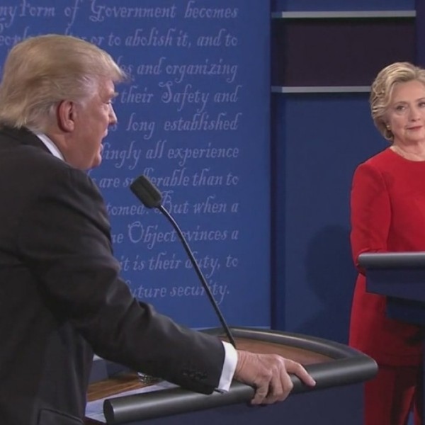 Donald Trump and Hillary Clinton during a debate