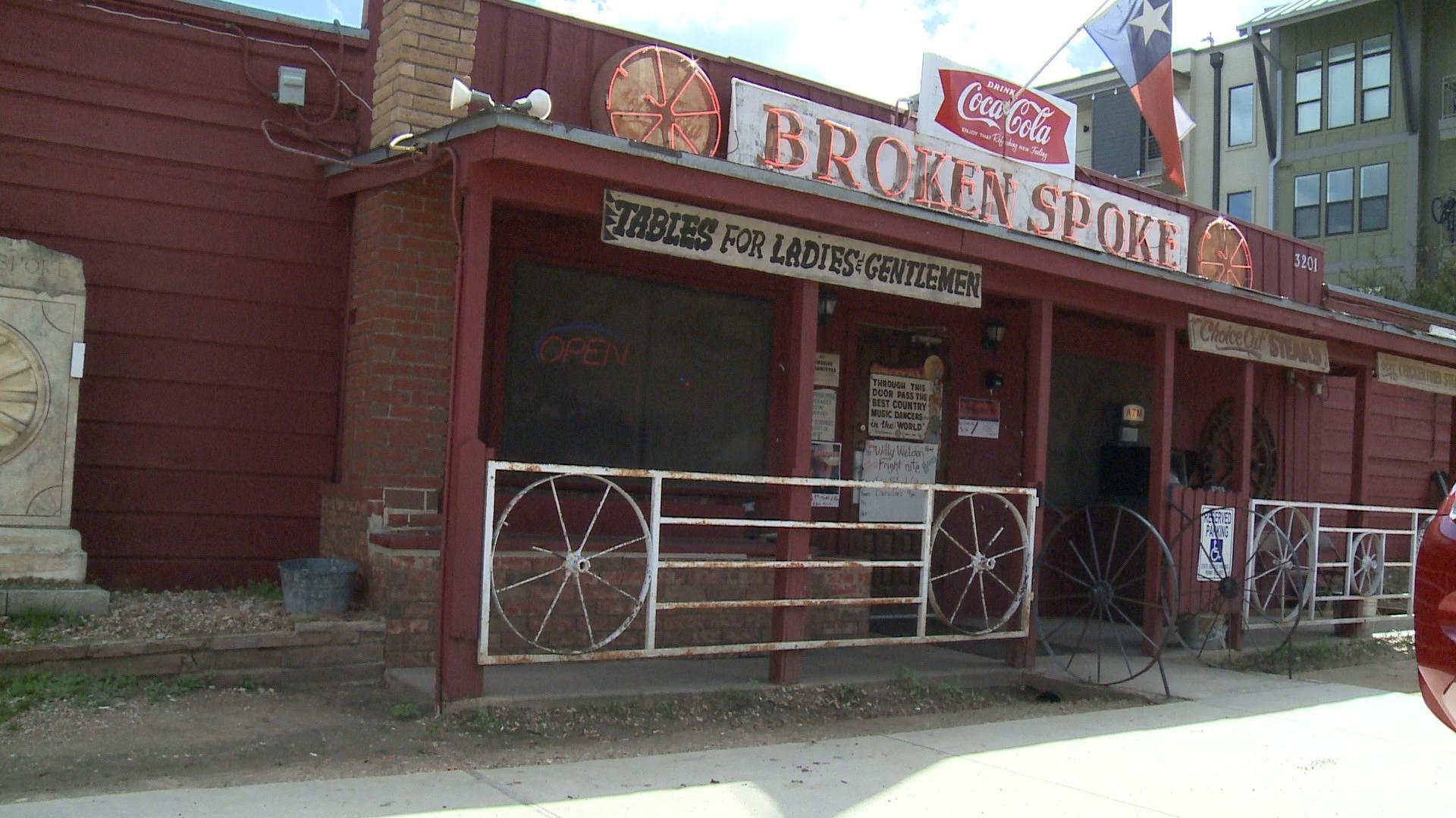 Broken spoke exterior