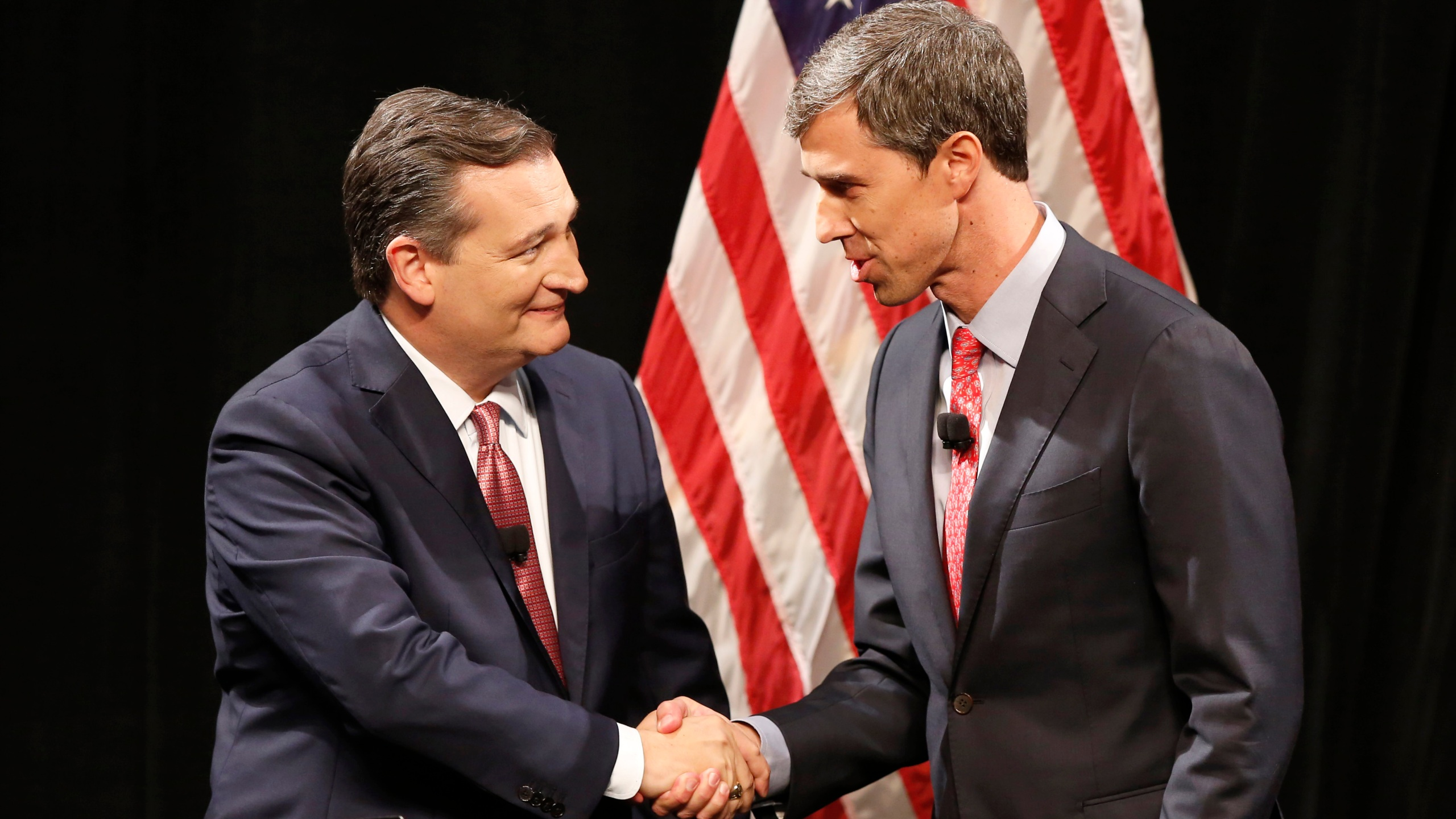 Ted Cruz and Beto O'Rourke at the debate