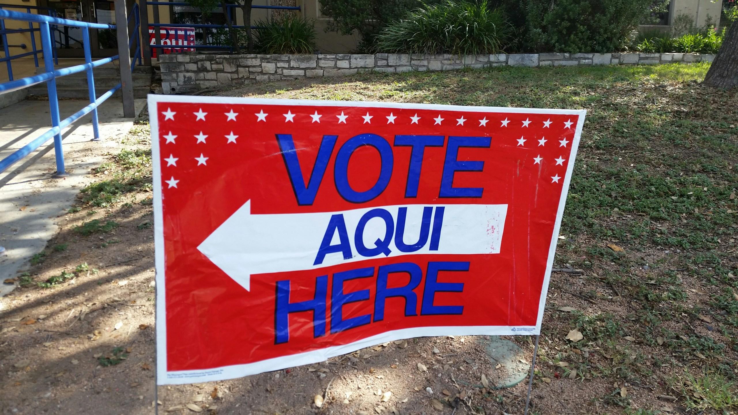 Vote Here sign - Voting - Voter