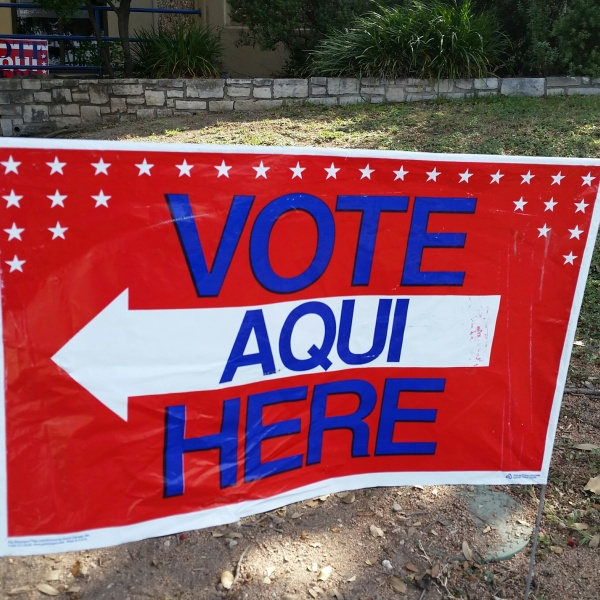 Vote Here sign - voting - voter