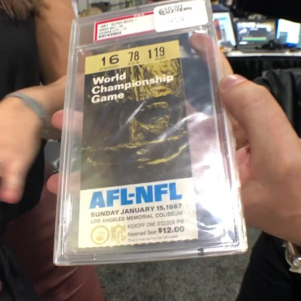 Big Game Memorabilia: 1967 NFL championship ticket, Game-worn Matt Ryan jersey