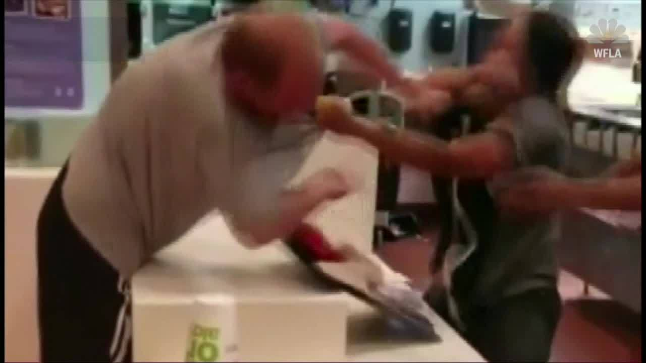 Customer charged in McDonald's attack after video goes viral