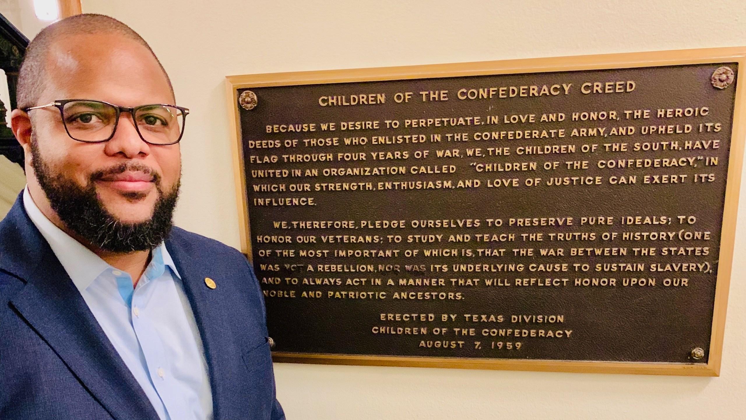 Confederate Plaque Rep. Johnson