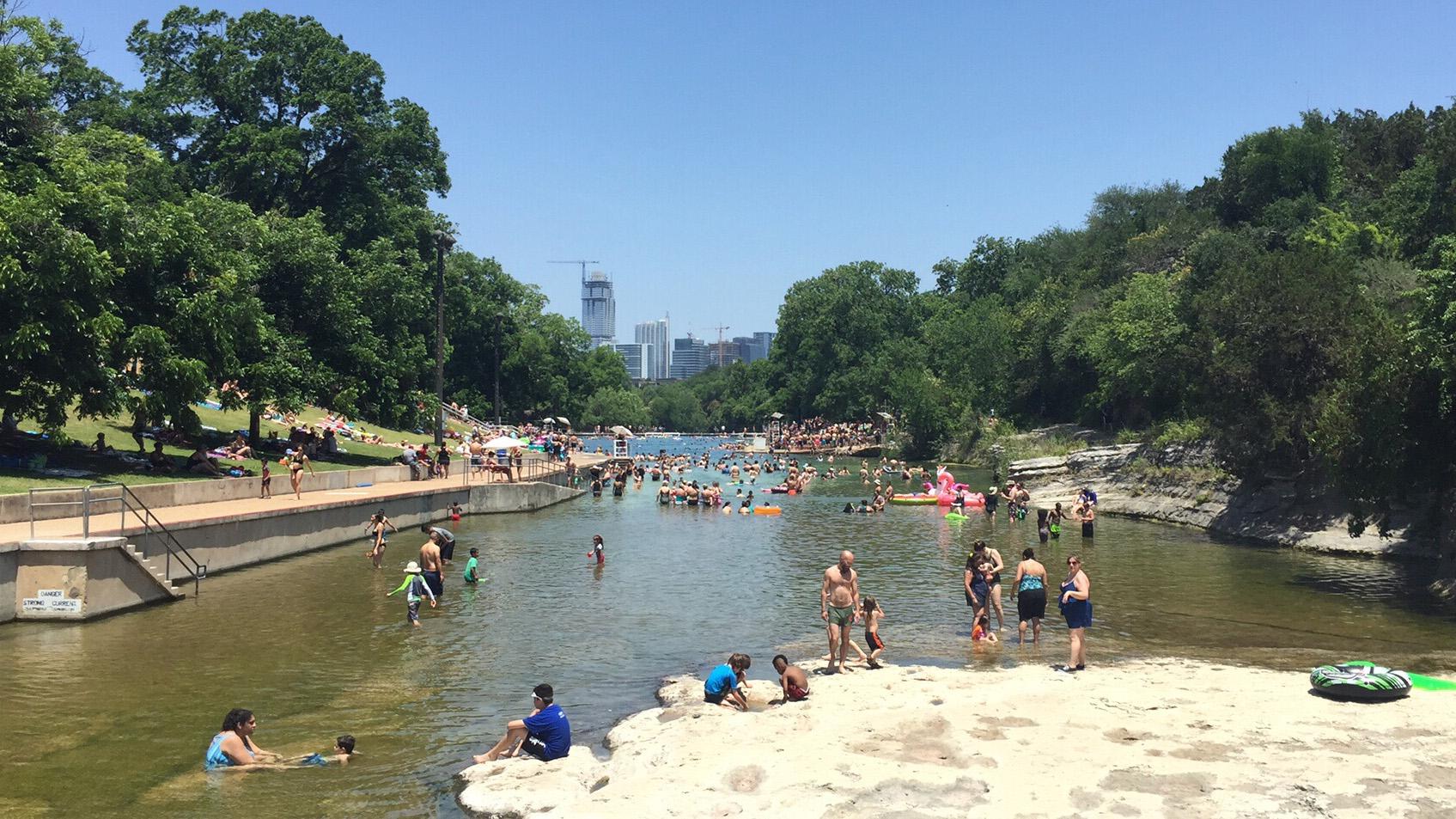 File Barton Springs Pool downtown view pool Austin