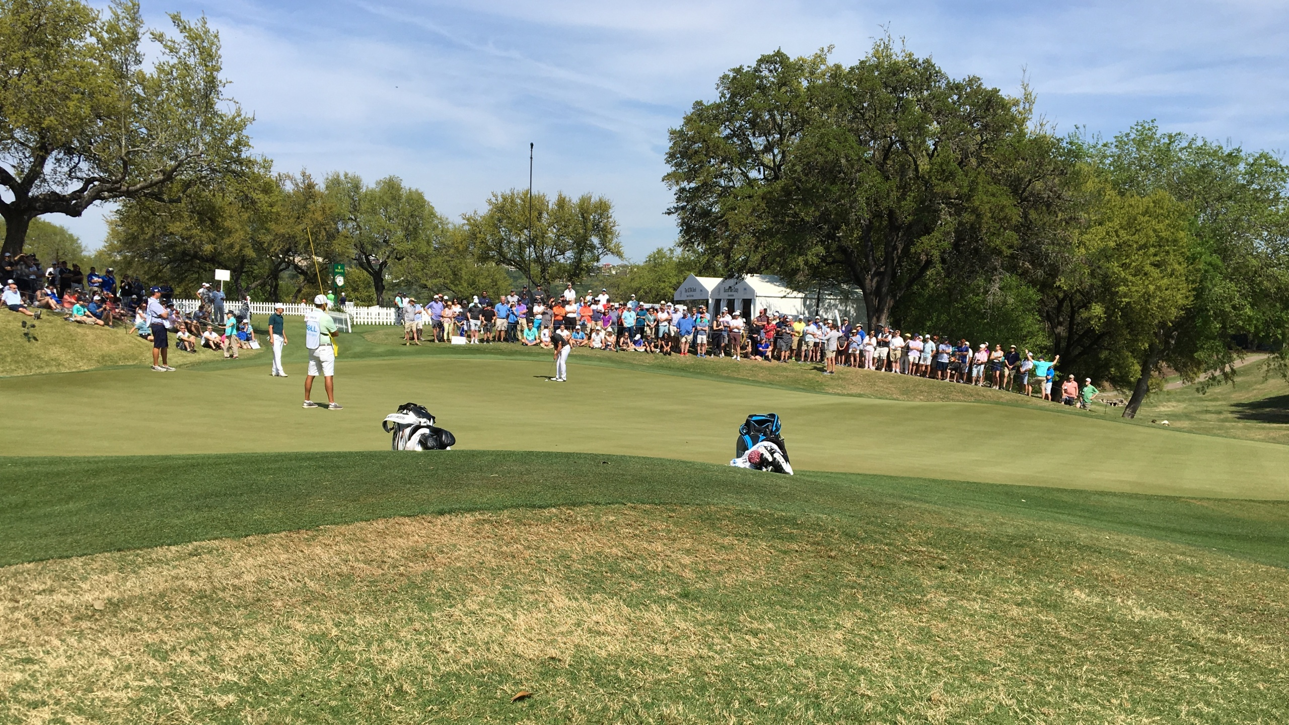 18th green Wednesday Match Play
