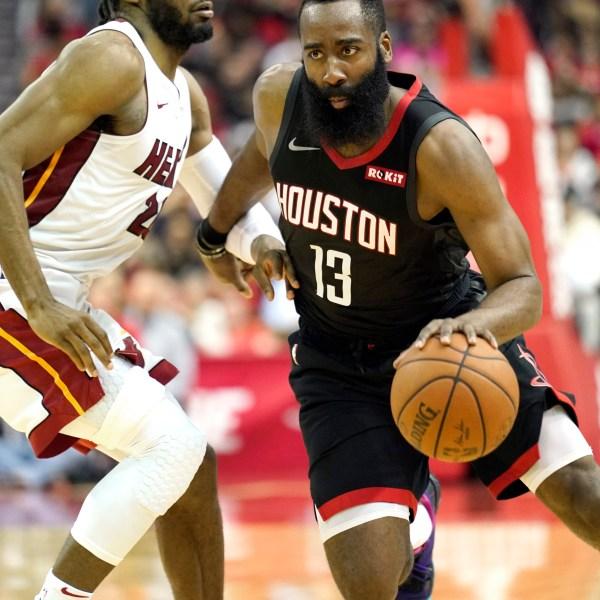 Heat Rockets Basketball James Harden