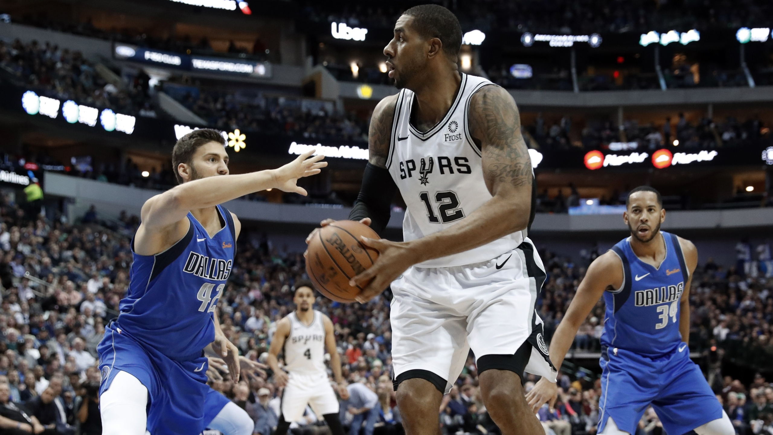 Lamarcus Aldridge Spurs Mavericks