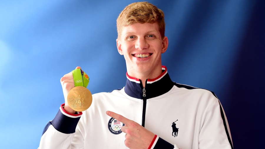 Townley Haas with gold medal