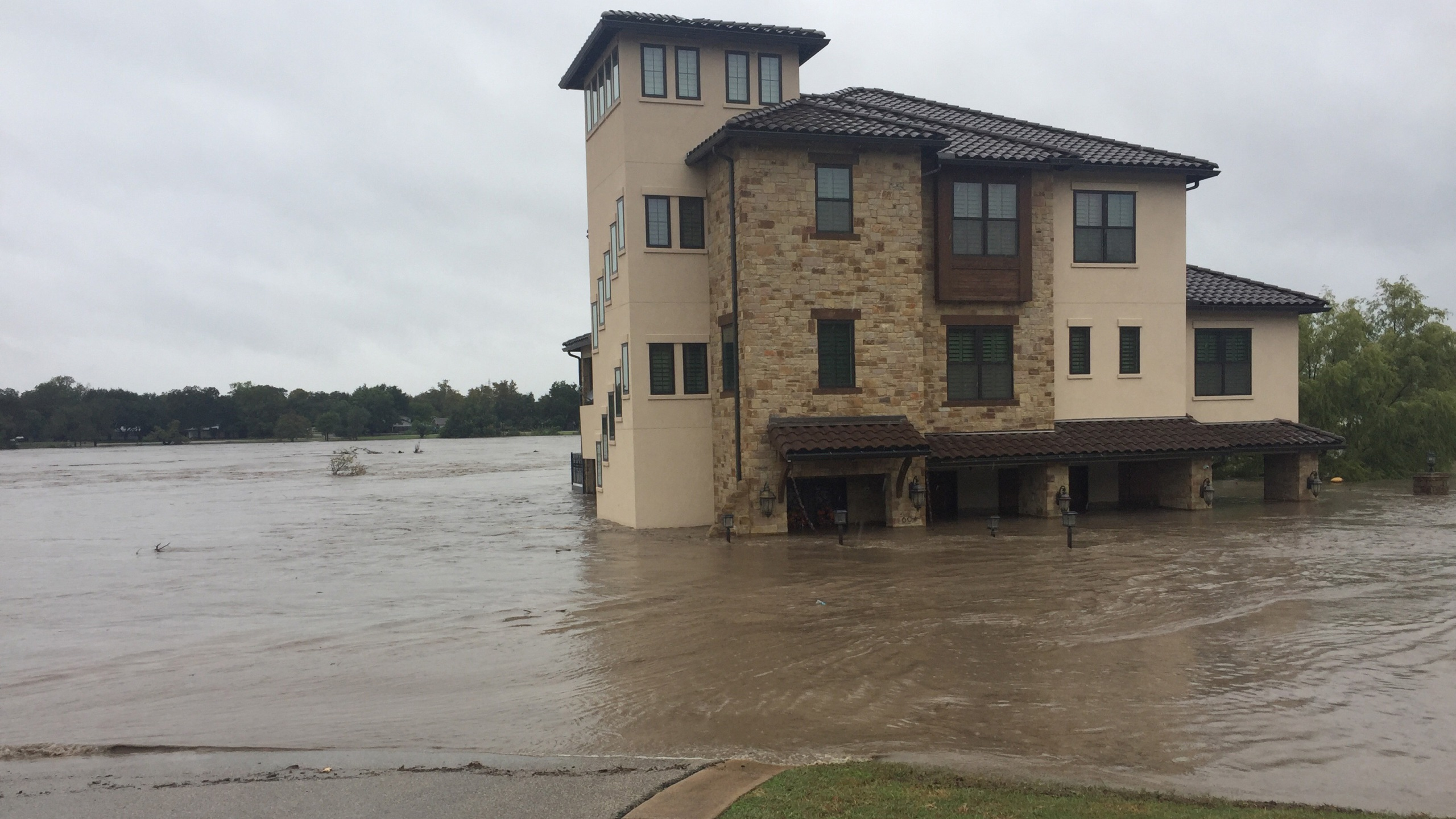 Flooded home on Waterside Drive in Marble Falls on Oct. 16, 2018