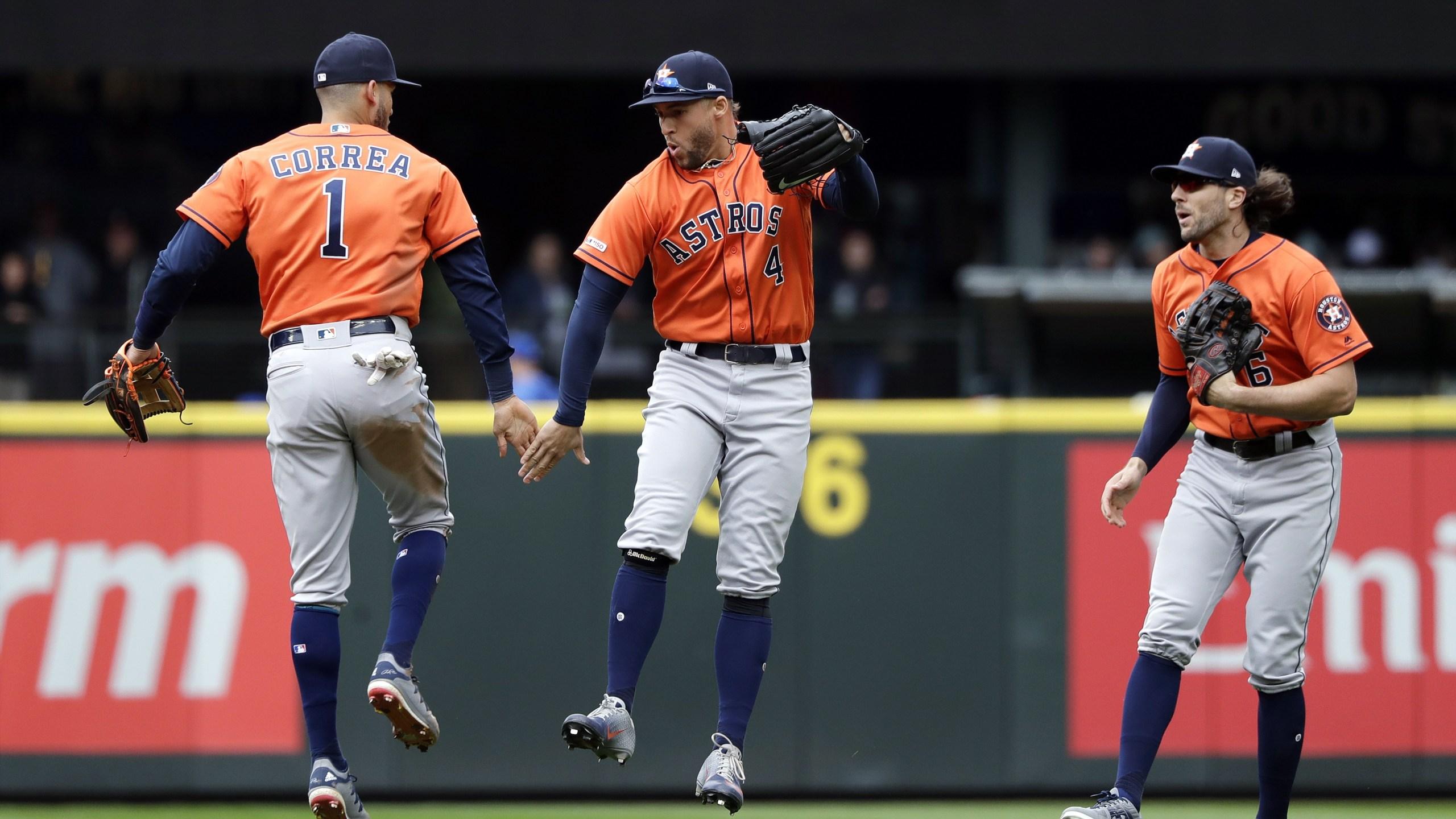 Astros win in Seattle April 2019