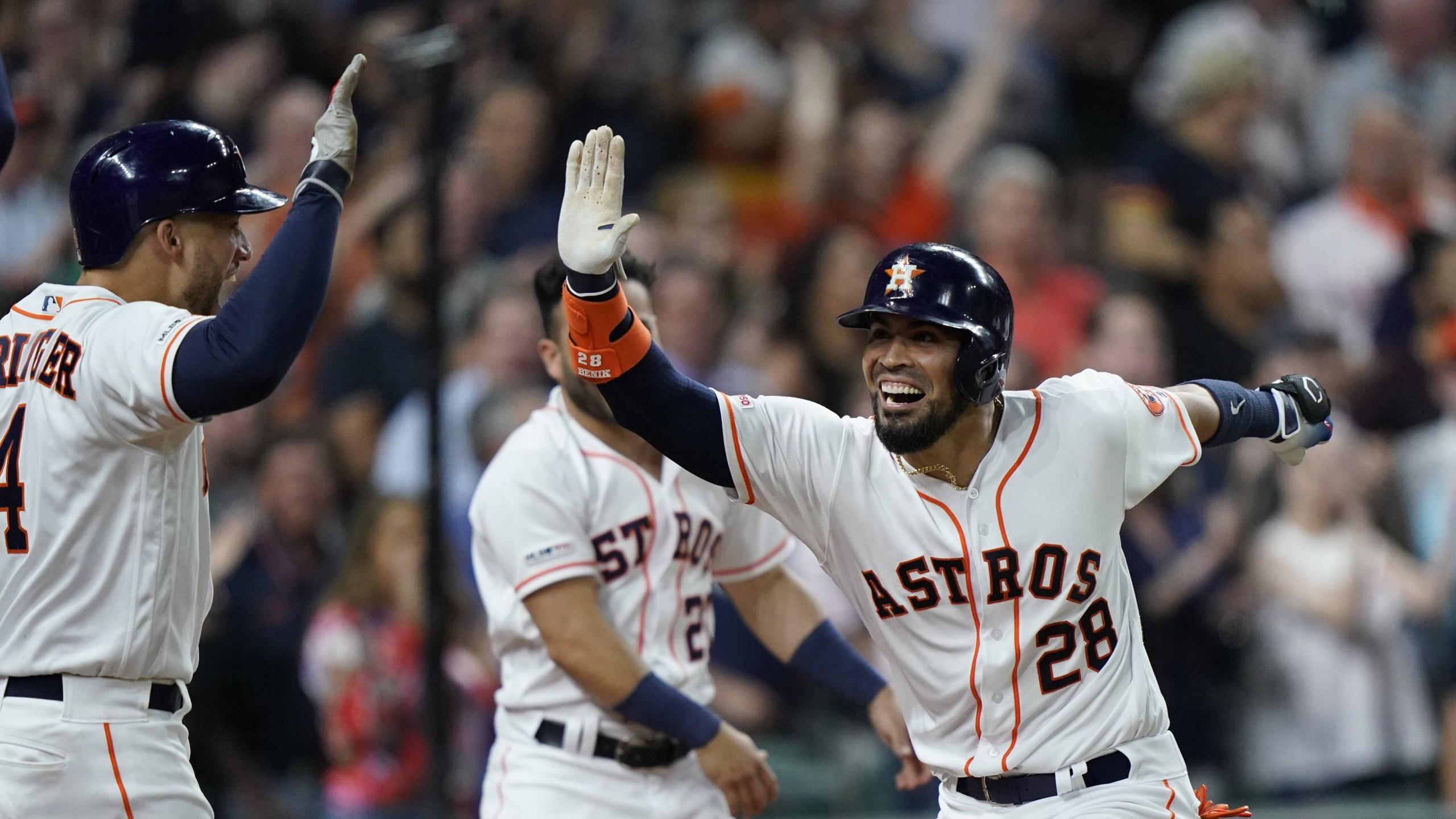Robinson Chirinos Astros Indians 2019