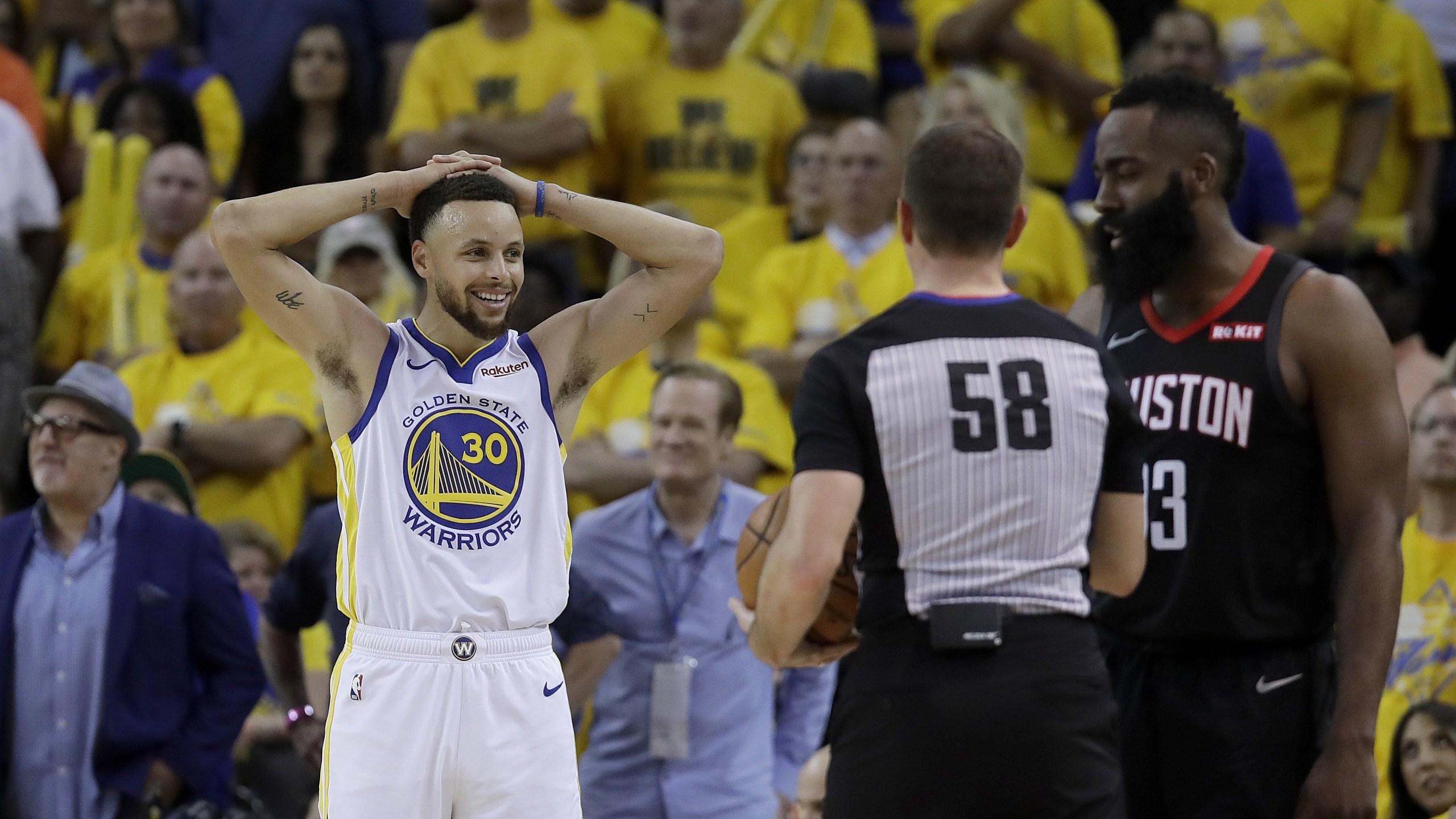 Warriors-Rockets vs officials 2019