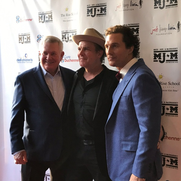 Mack Brown, Matthew McConaughey, Jack Ingram
