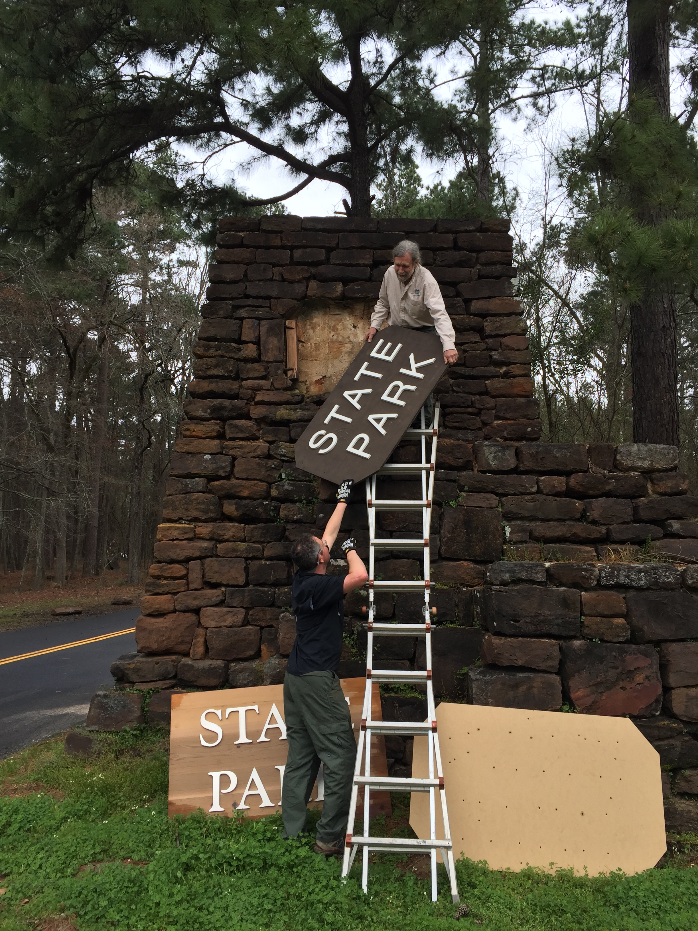 Texas Parks and Wildlife Dept  technician visits all 95 state parks