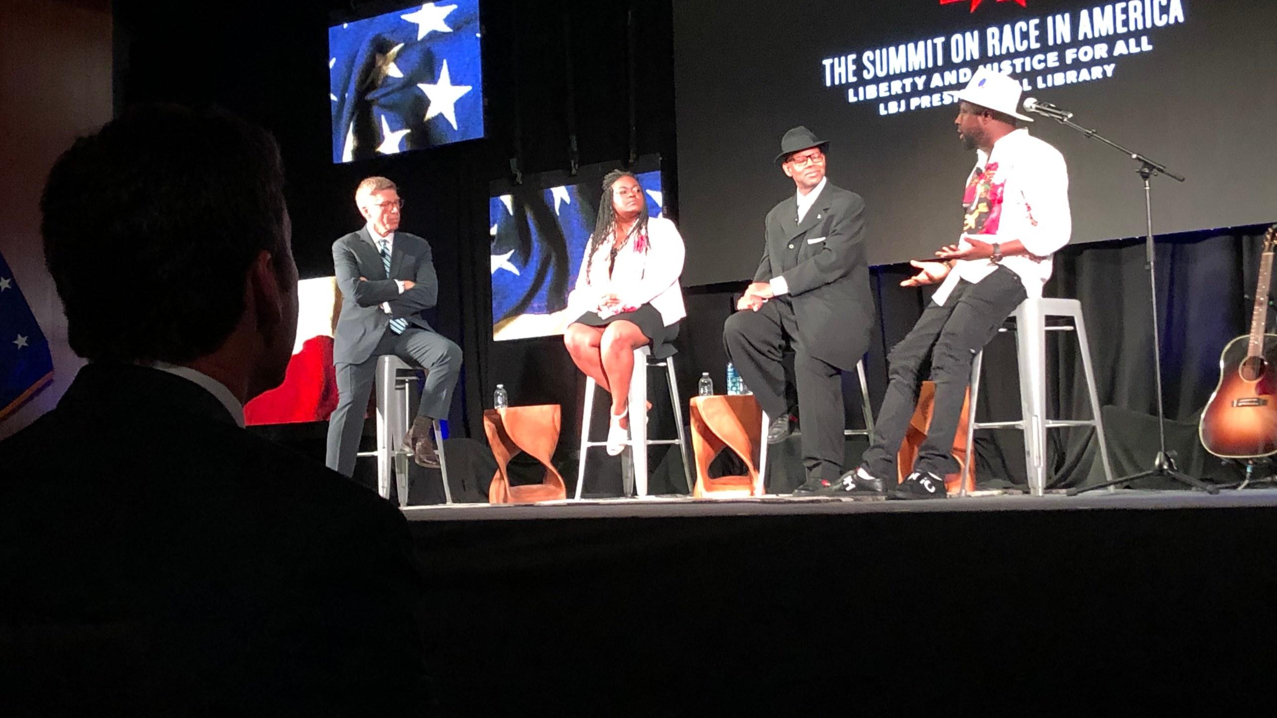 LBJ Summit on Race music panel