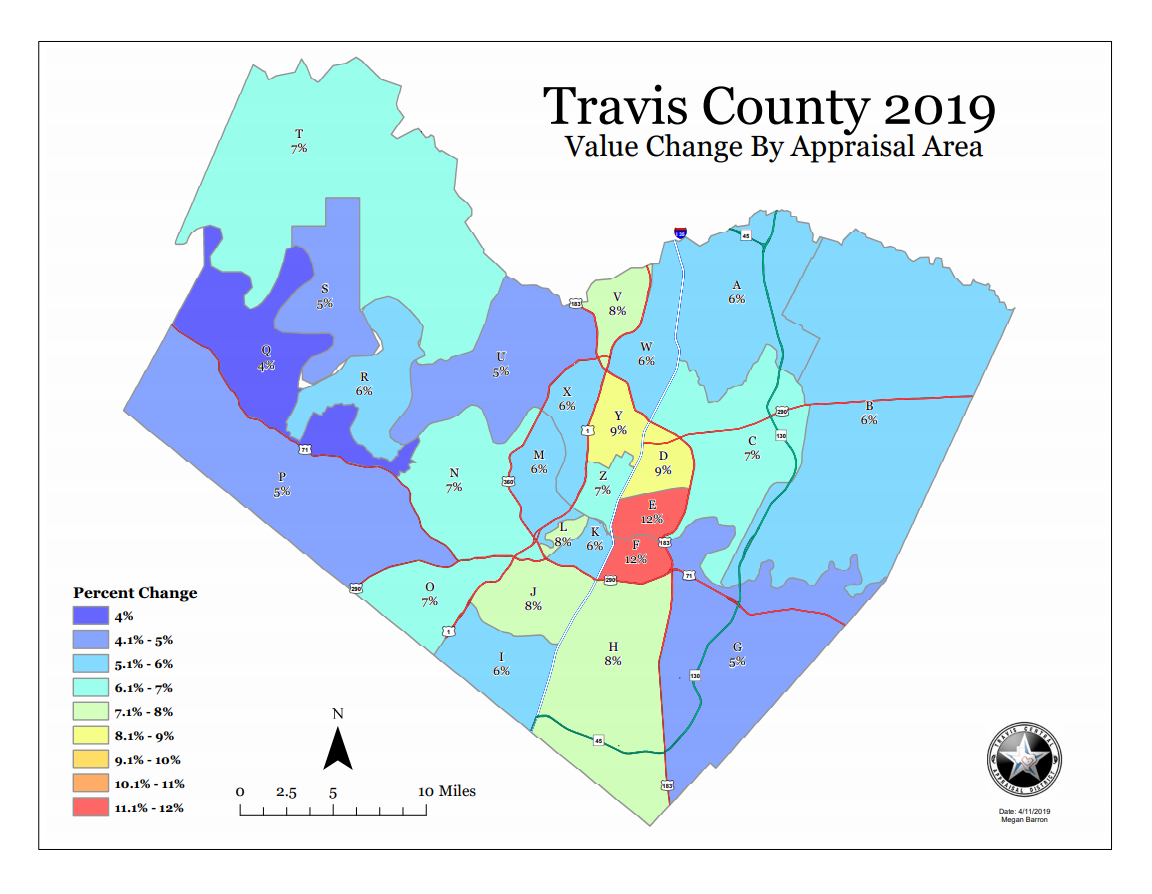 Austin property values not increasing as much as they have been on