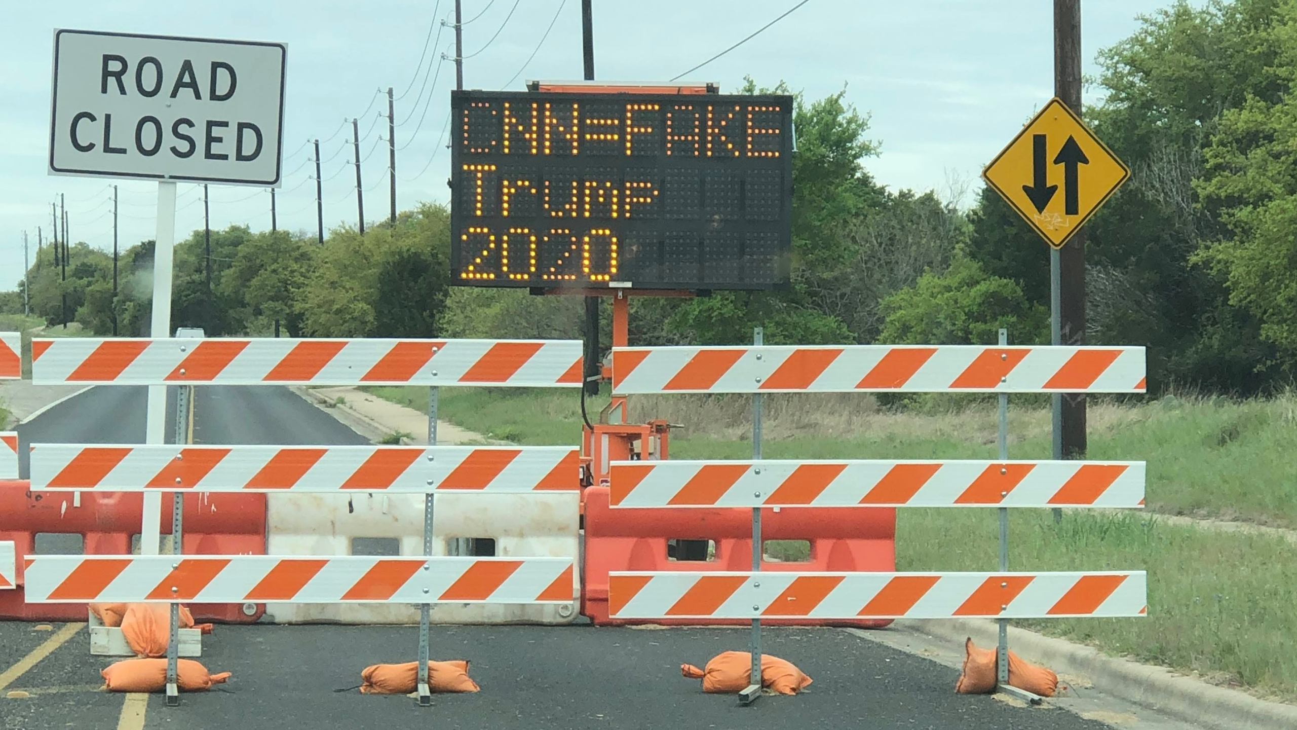 TXDOT Sign hacked