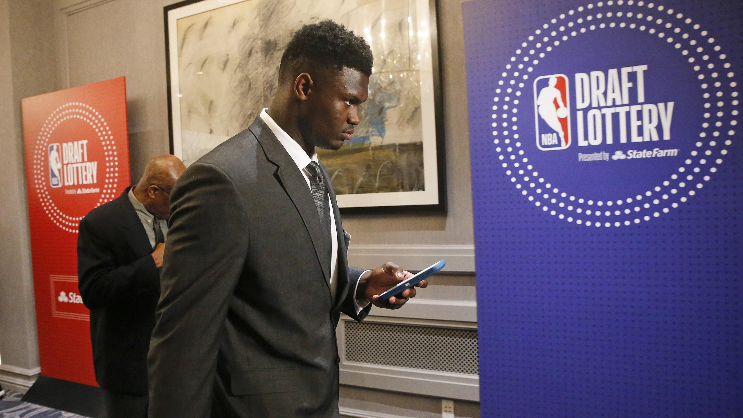 Zion Williamson NBA lottery