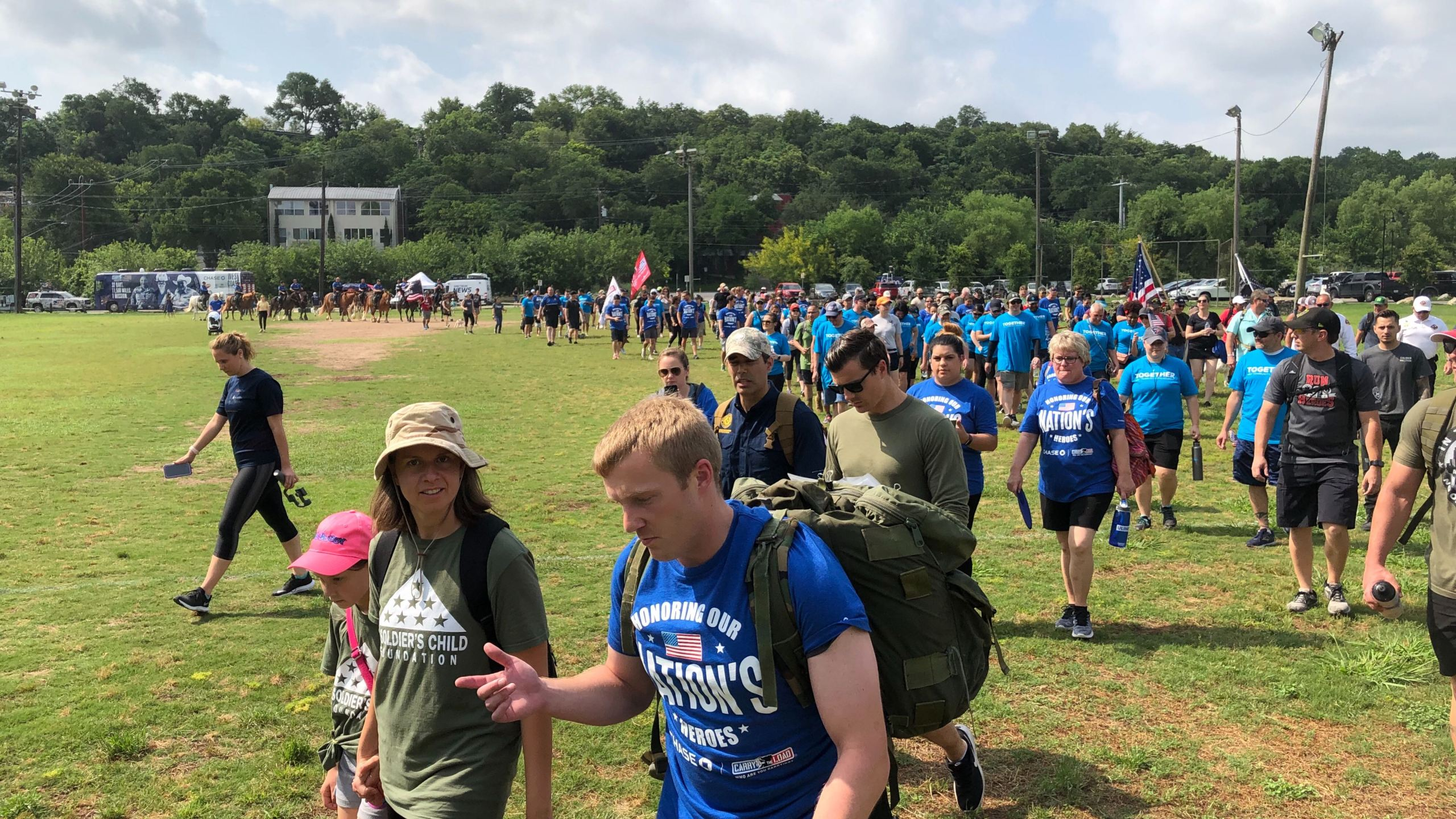 Hundreds walk in Carry The Load march