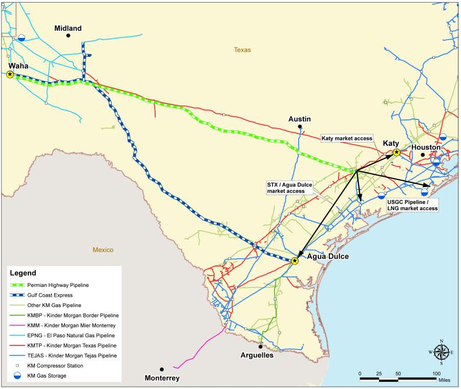 Permian Highway Pipeline_Overview Map from Kinder Morgan