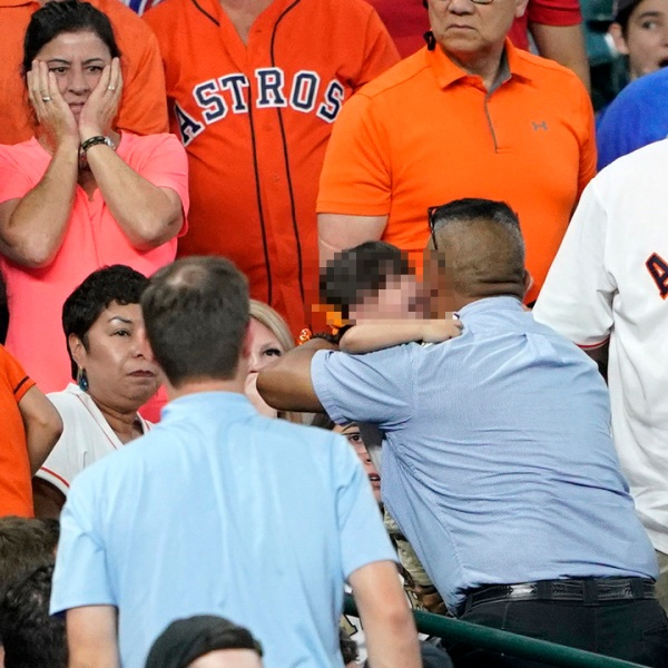 Child hit by foul ball at Astros game