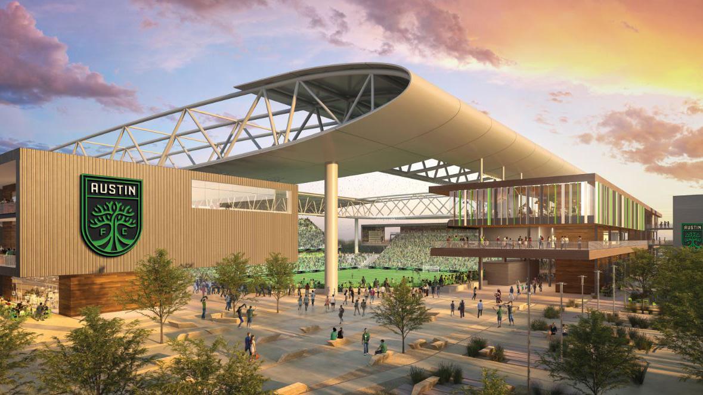 Rendering of the Austin FC stadium 2
