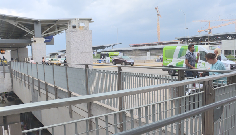 Drop off area at Austin-Bergstrom International Airport