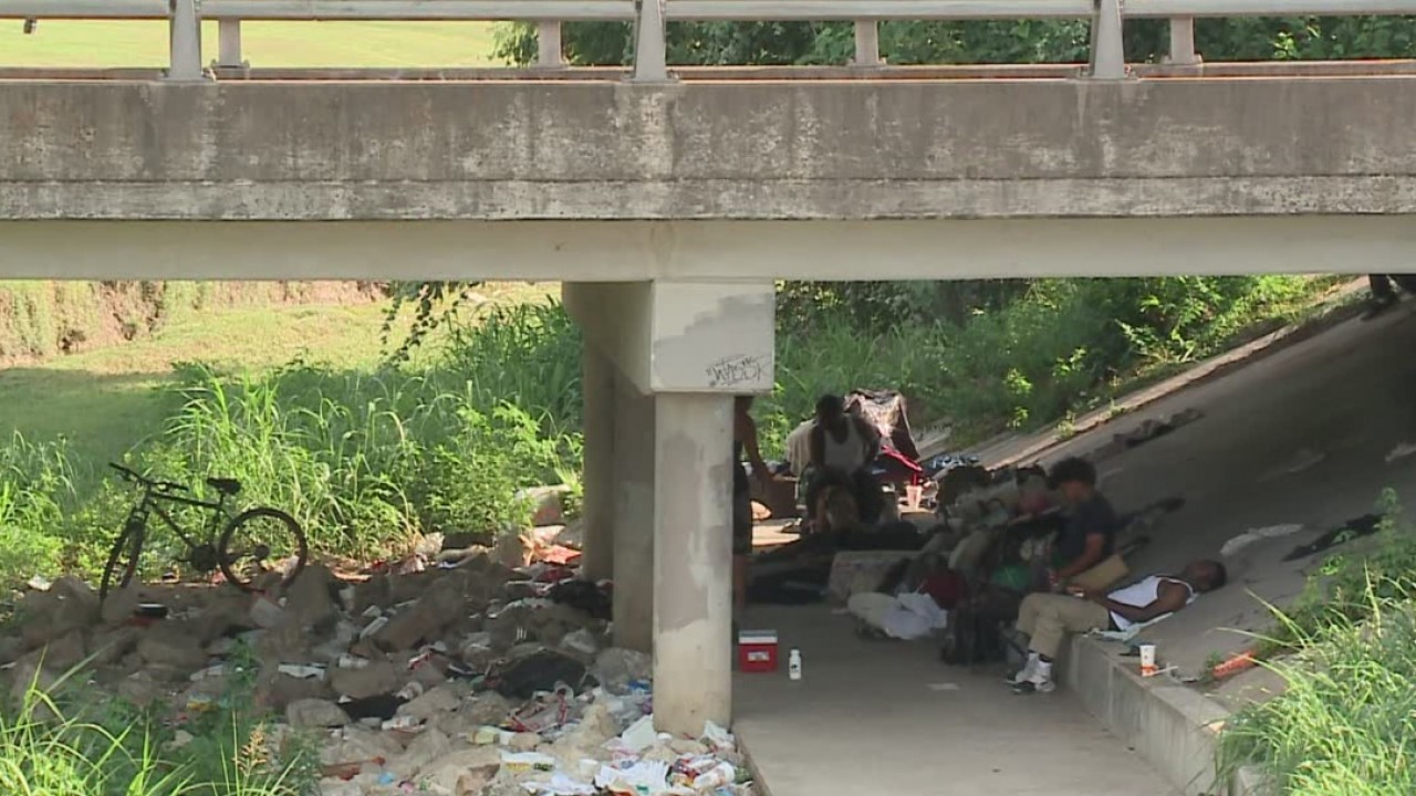 Southeast Austin neighbors concerned with homeless camp under bridge