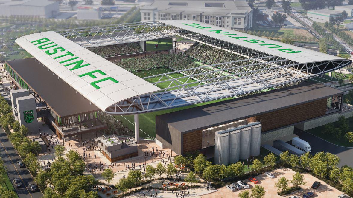 Rendering of the Austin FC stadium