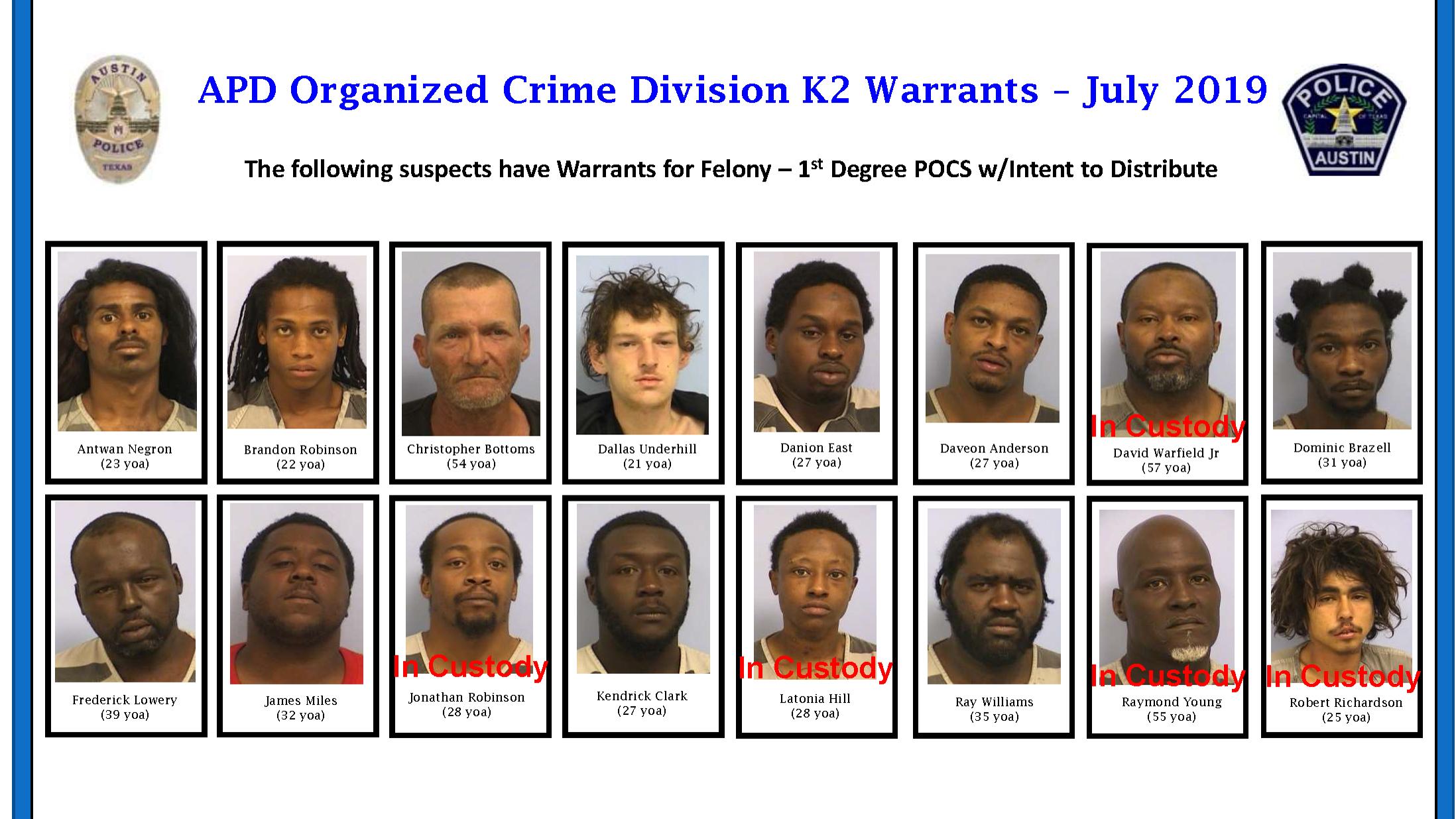 Arrest warrants issued for 16 in K2 crackdown, APD targeting