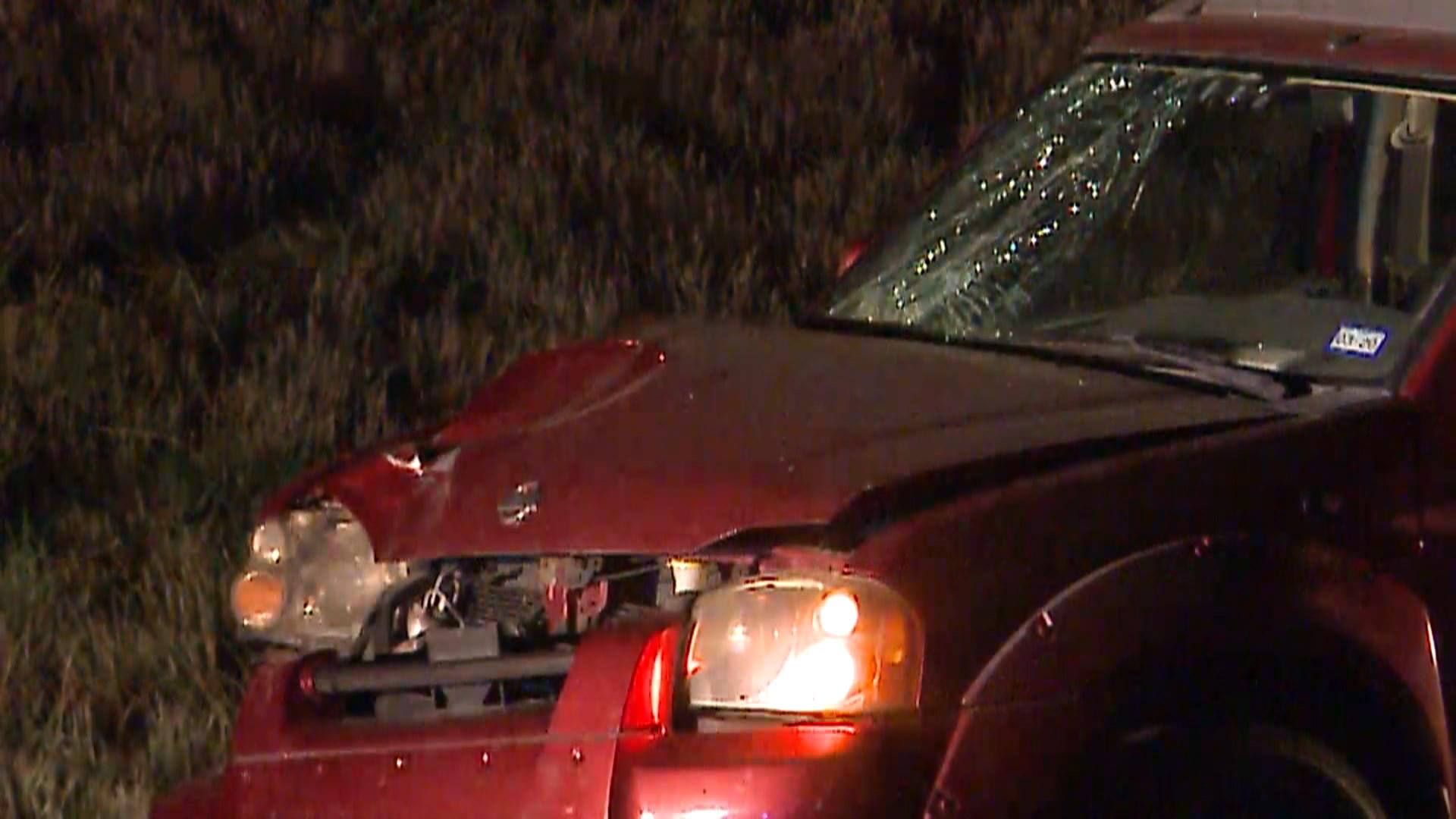 Man and dog hit, killed by multiple vehicles crossing I-35