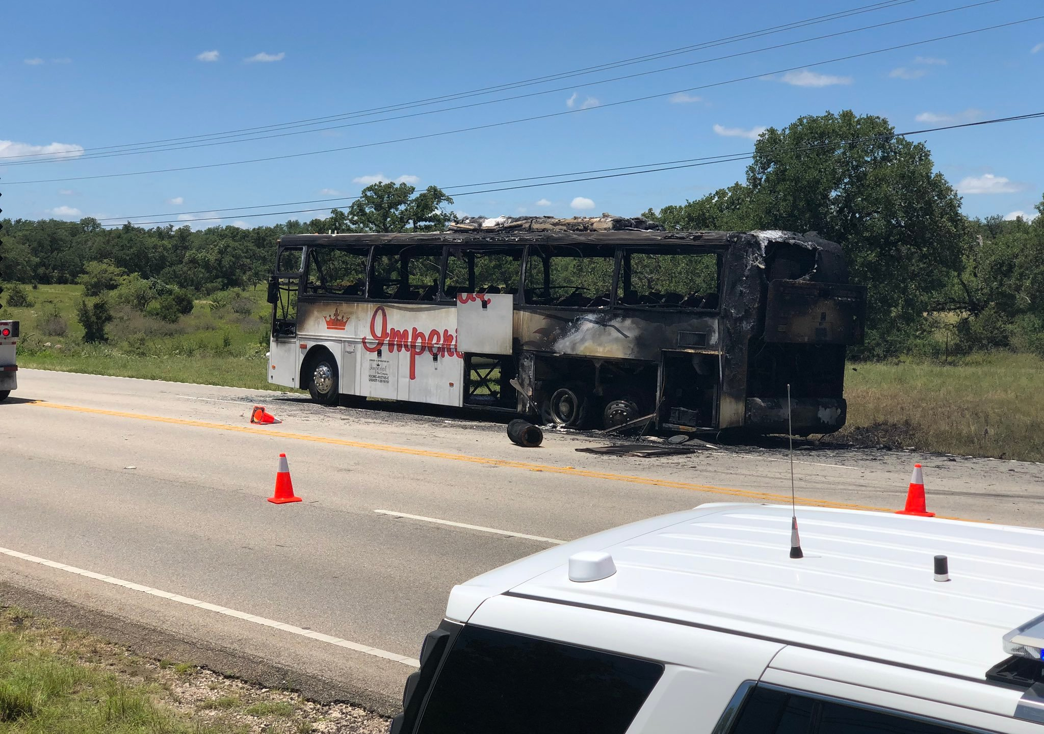 Charter Bus Carrying Kids Returning From Summer Camp