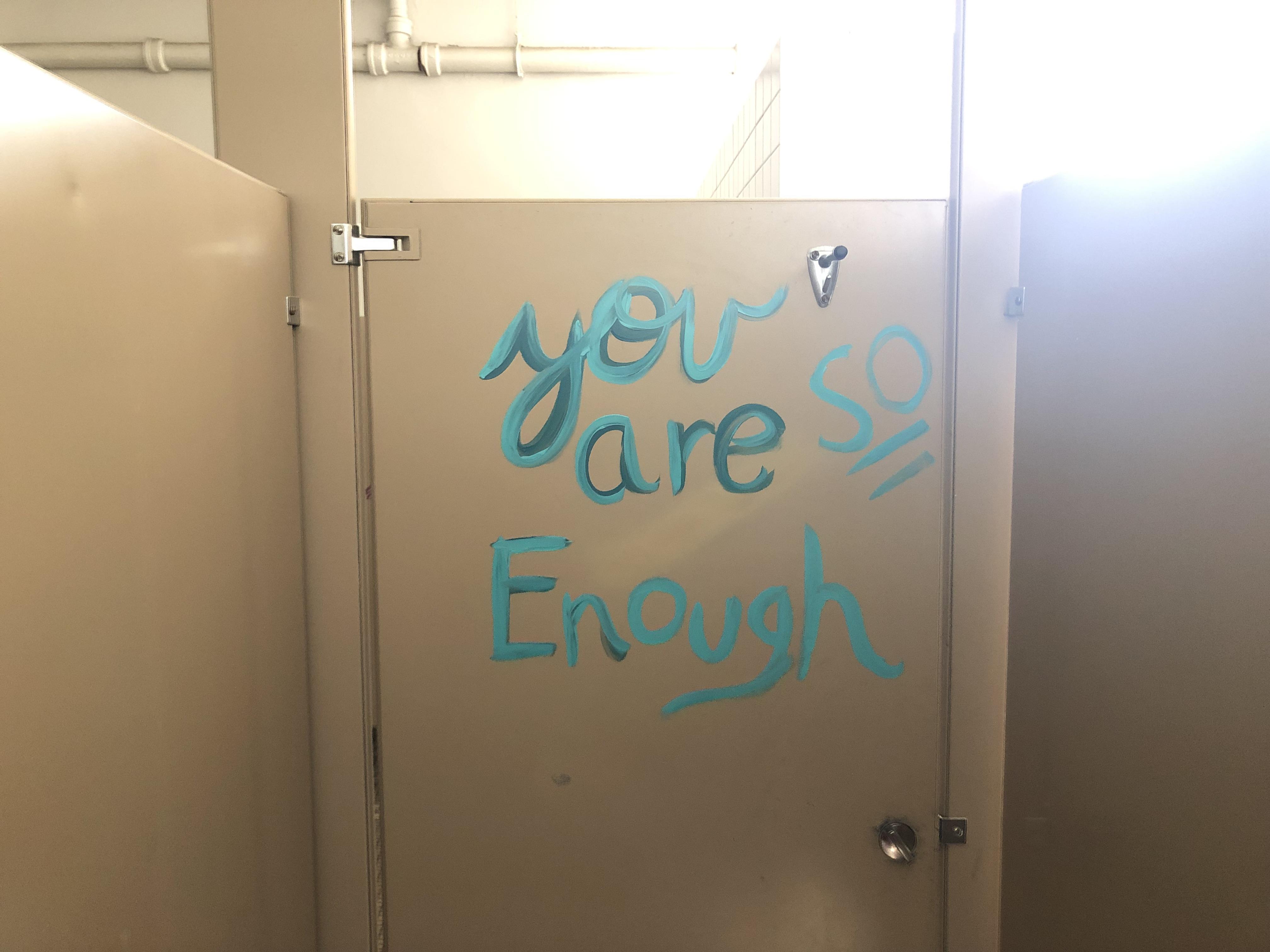 Marietta MS bathroom message