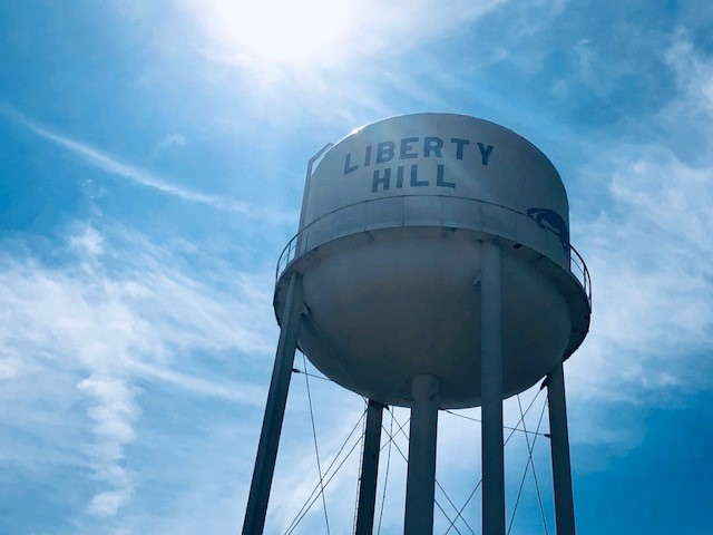 Liberty Hill water tower
