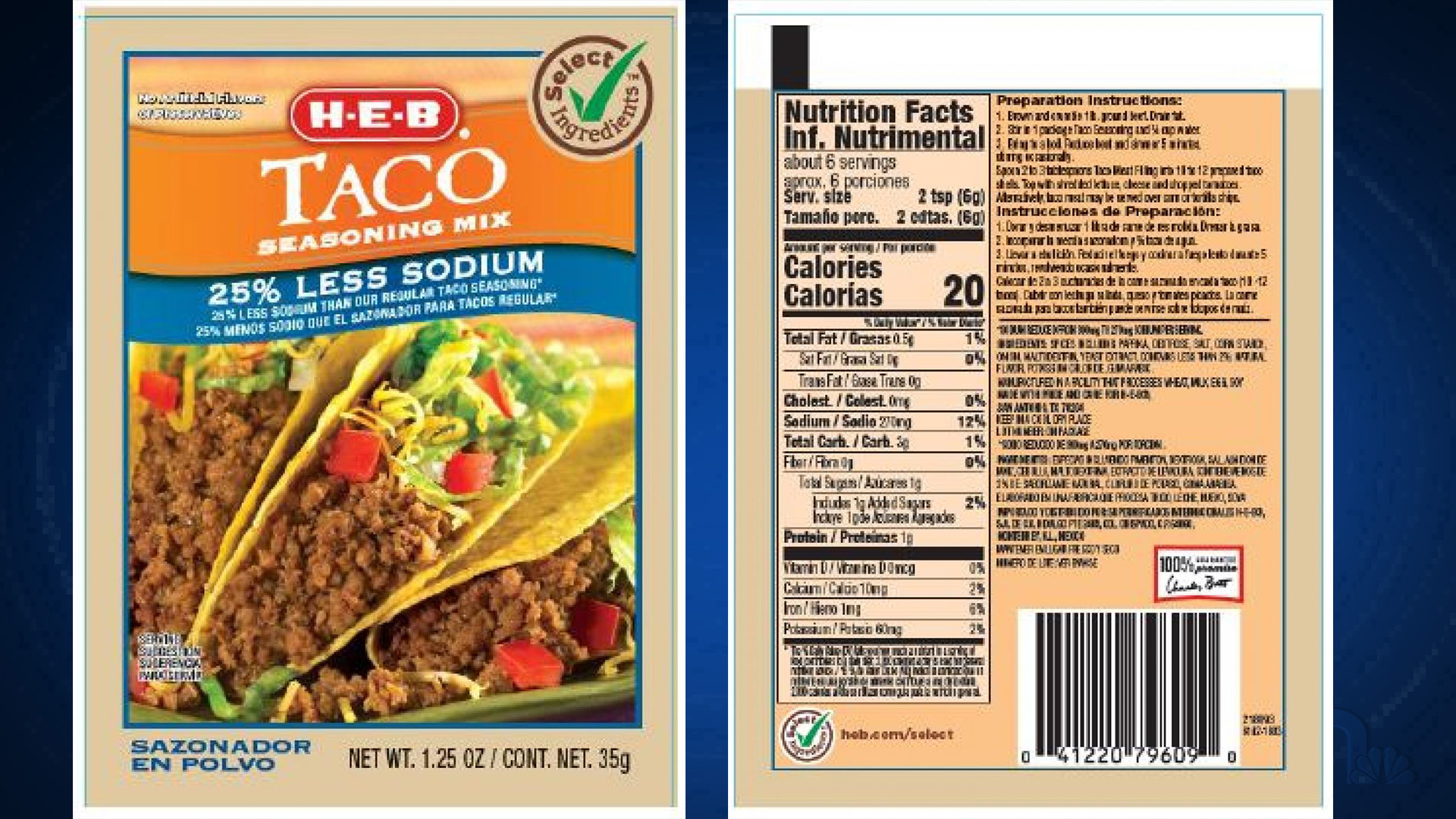 Great Value H E B Taco Seasoning Recalled Over Salmonella Contamination Concerns Kxan Austin