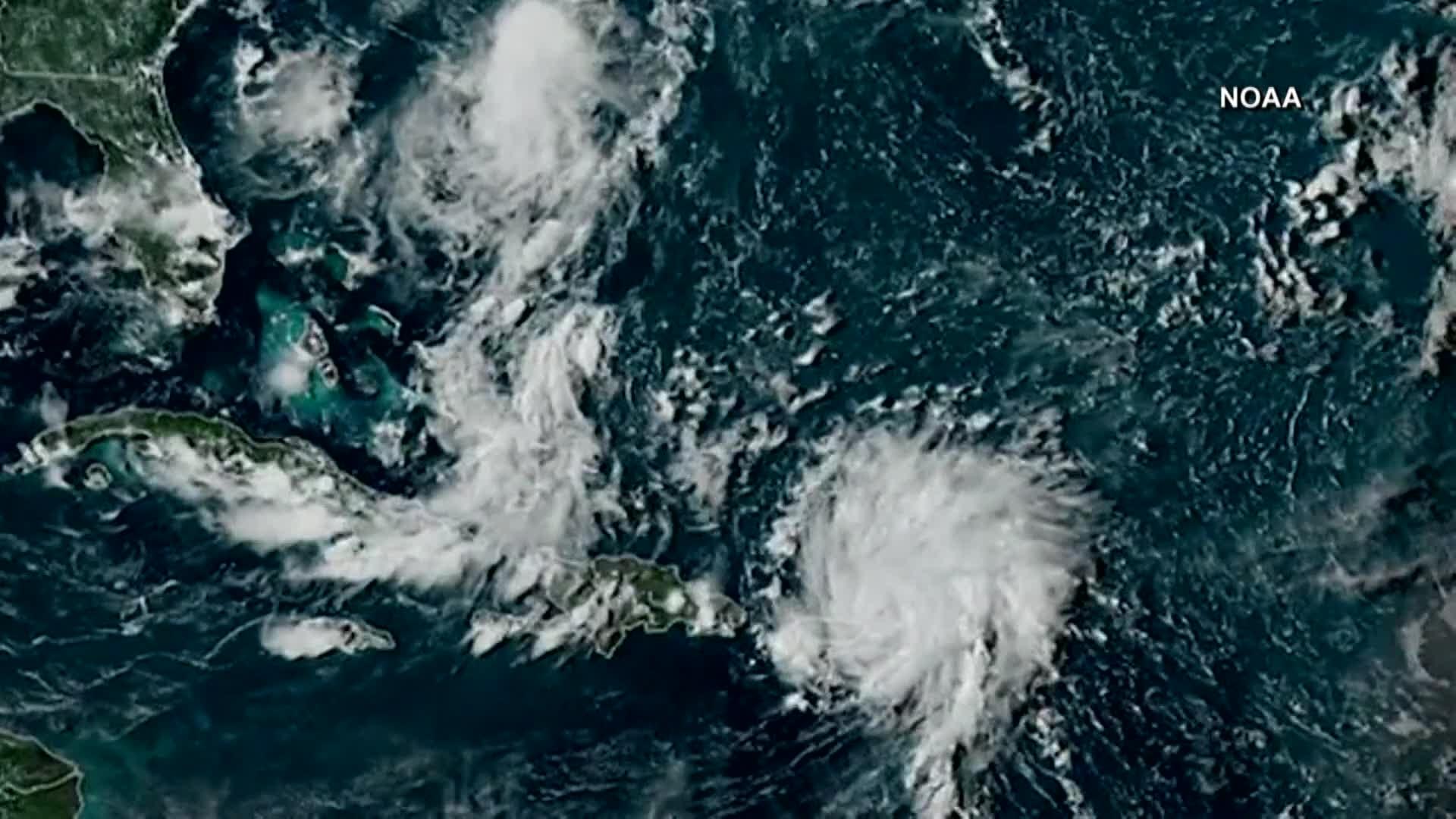 Hurricane Dorian intensifies to Cat  2 ahead of landfall