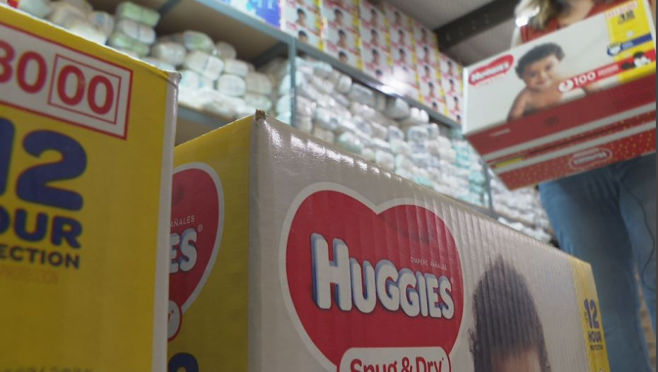 Huggies and Costco recently donated 300,000 diapers to the Austin Diaper Bank. (KXAN Photo/Candy Rodriguez)