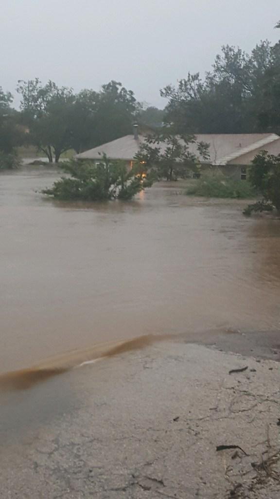 Fletcher's flooded home