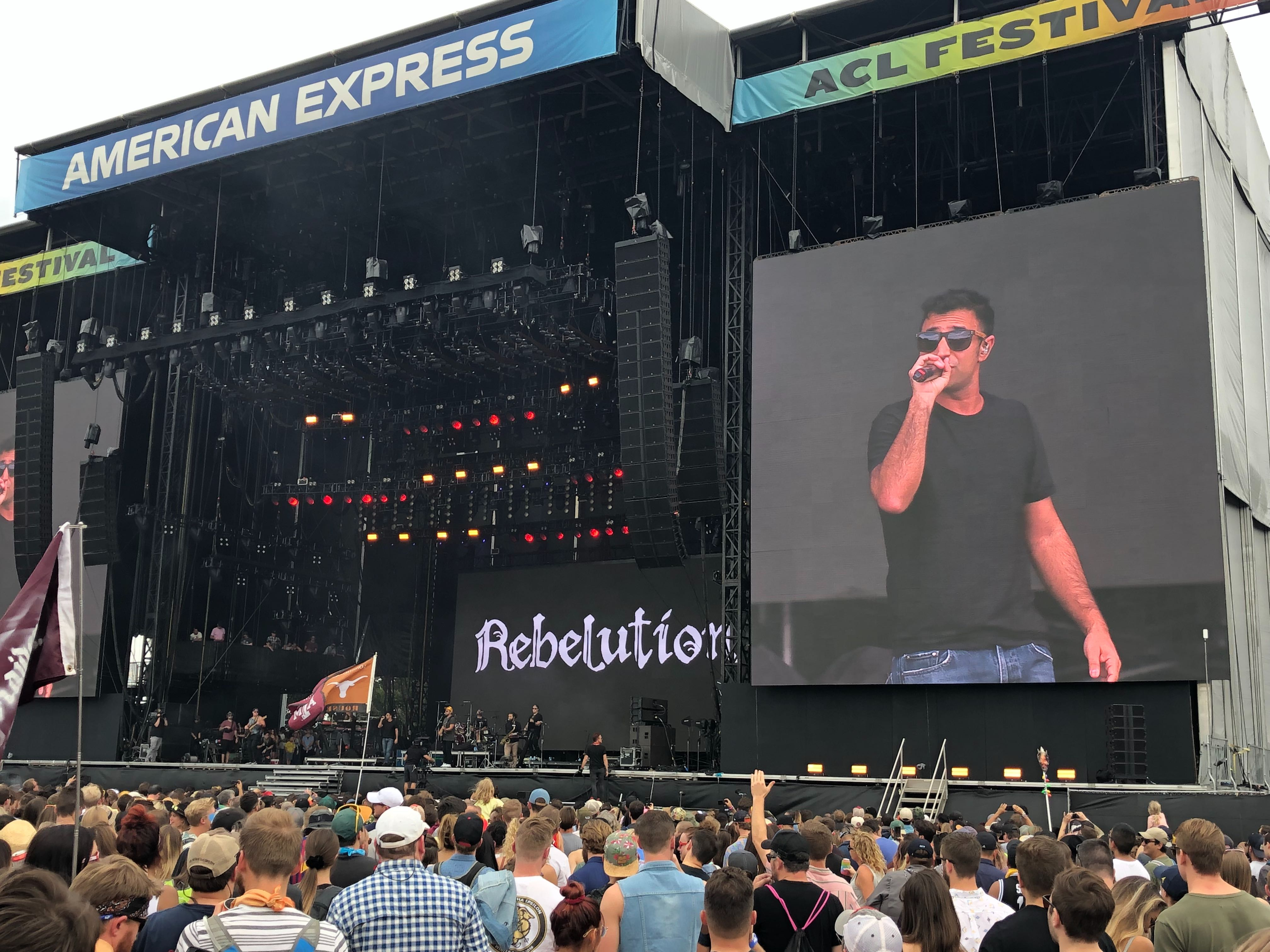 Rebelution on American Express stage at ACL 2019 (KXAN Photo/Amanda Dugan)