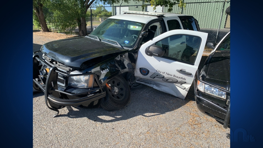 Two New Braunfels police units totaled in alleged drunk ...