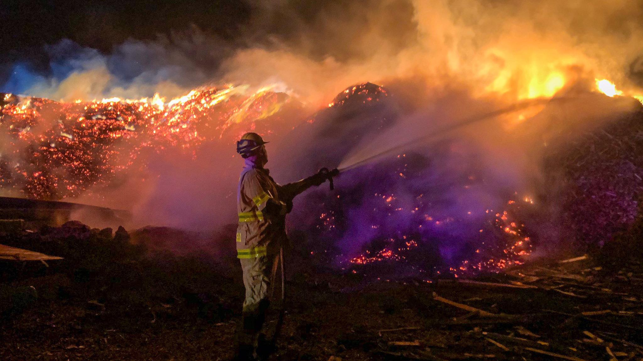 mulch fire
