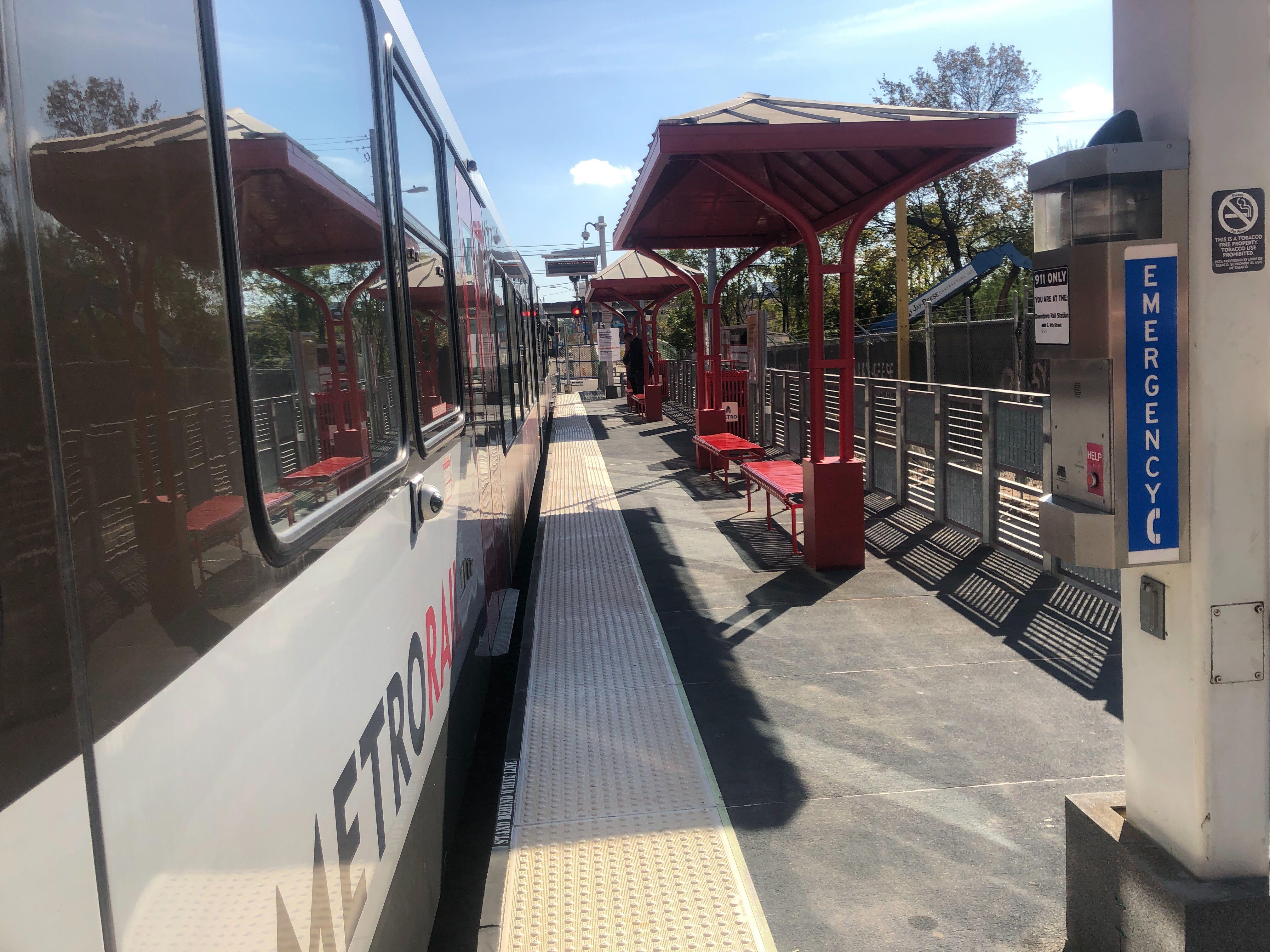 New downtown Capmetro temporary station