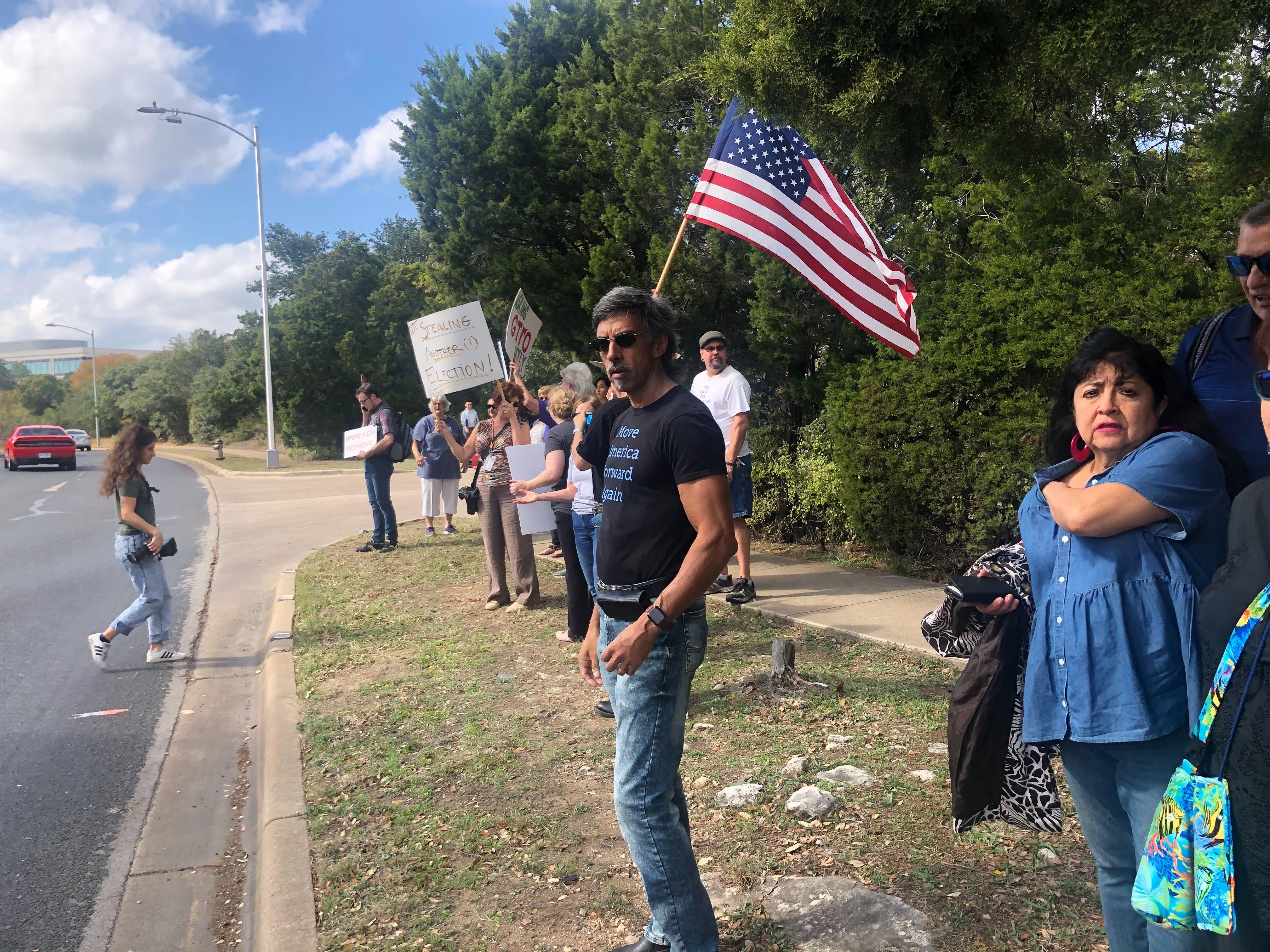 Indivisible Austin trump protest