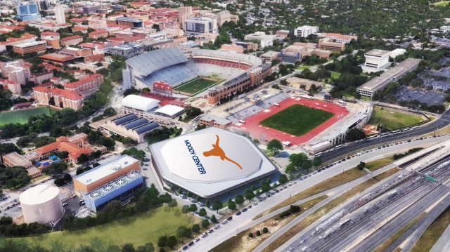 UT breaks ground on new basketball arena, the Moody Center, Tuesday