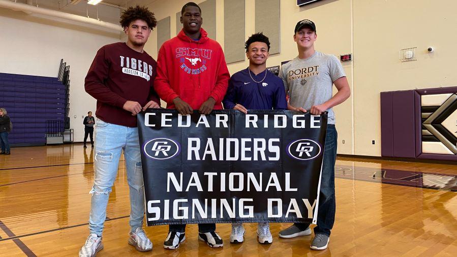 Cedar Ridge Signing Day