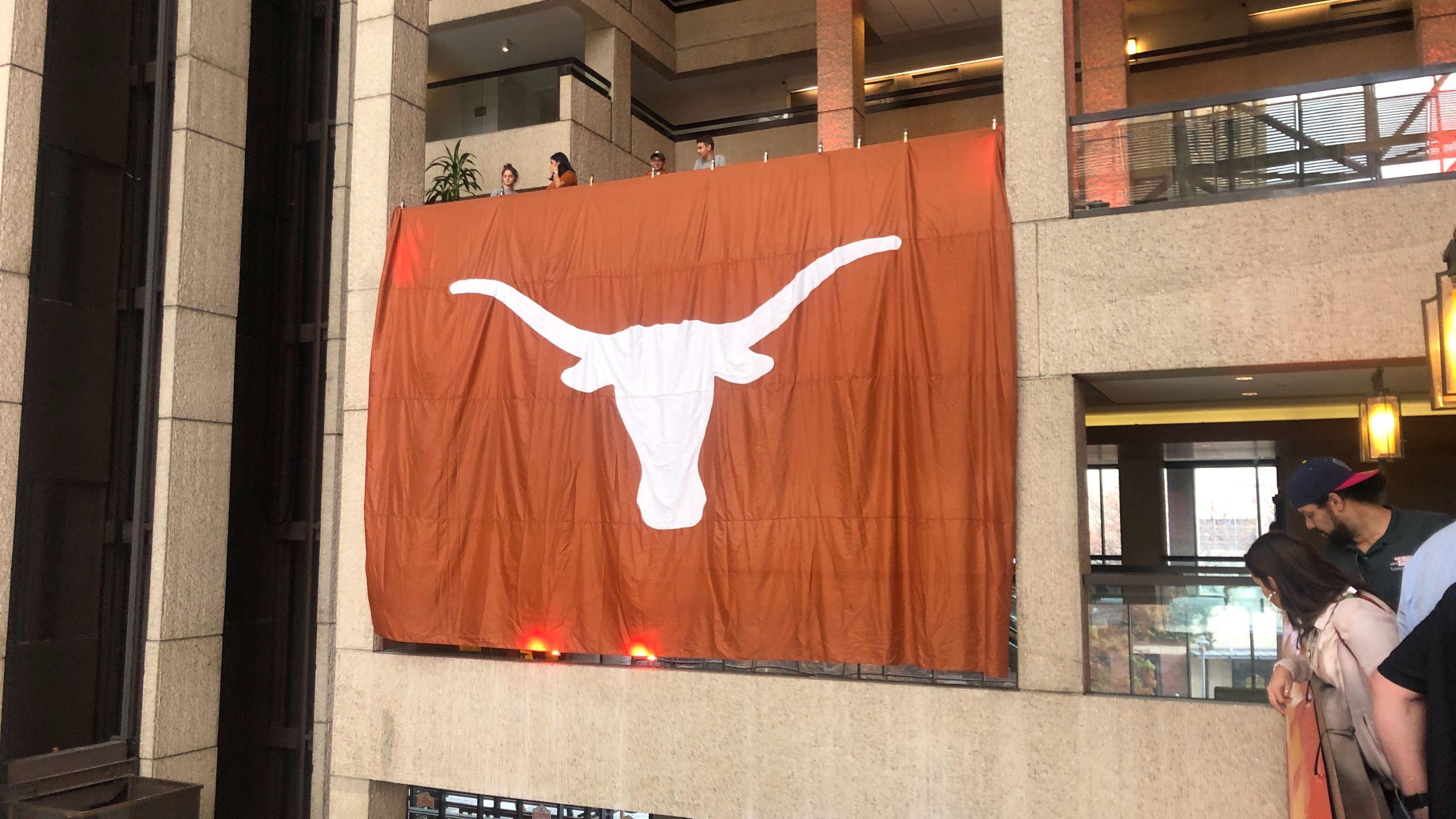 Longhorn flag in San Antonio