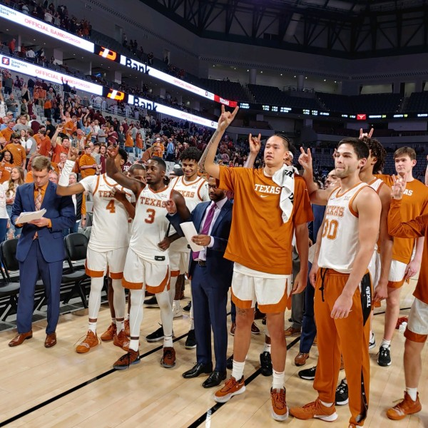 Longhorns celebrate Texas A&M